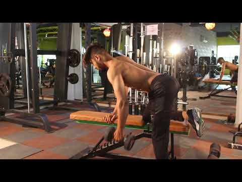 ex 2 one arm albow in dumbbell row