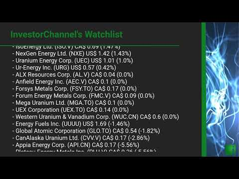 InvestorChannel's Uranium Watchlist Update for Thursday, J ... Thumbnail