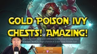 Injustice 2 Mobile: Gold Poison Ivy Chests VS Normal Hero Chests