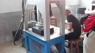 Прессовка пуэра: подготовка чайного станка к прессовке китайского чая типа шен пуэр (生普洱).