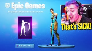 Streamers React To *FREE EMOTE* In Fortnite! *Claim Now* (NEW)