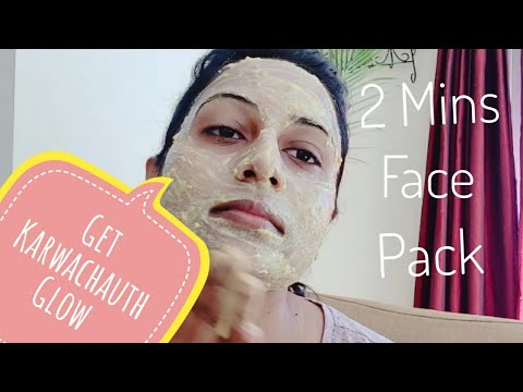 Get Karwachauth Glow | 2 Mins Homemade Face Pack For Healthy & Glowing Skin | How to Get Glowing