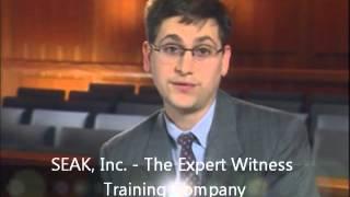 The Role of the Expert Witness at Trial
