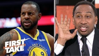 'Somebody's lying!' – Stephen A. reacts to Iguodala's Warriors comments | First Take