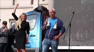 "Jon Wedger's Speech with Kate Shemirani, at the ""Resist and Act for Freedom"" rally. Trafalgar Sq"