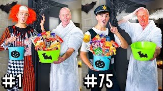 10 WAYS TO GET MORE HALLOWEEN CANDY! - Challenge