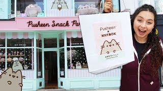 I went to a New PUSHEEN Snack Parlor Cafe in Brighton, England!