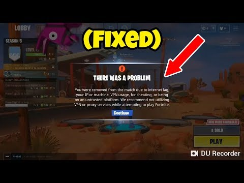 Fortnite Mobile You Were Removed From The Match | STAMP TUBE