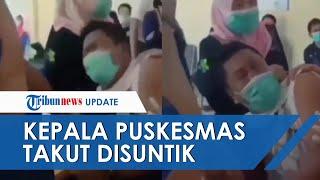 Momen Kepala Puskesmas Bone Gorontalo Histeris saat Divaksin Covid-19, Akui Fobia Jarum Suntik