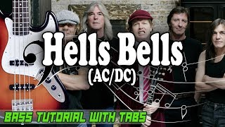 AC/DC - Hells Bells - BASS Tutorial [With Tabs] - Play Along