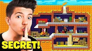 I Found Preston's SECRET Underground Lava Base in Minecraft!