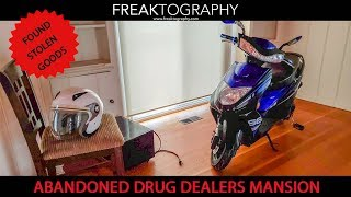 ABANDONED Drug Dealers House with Unique Decor, Outdoor Pool and a Stolen Moped
