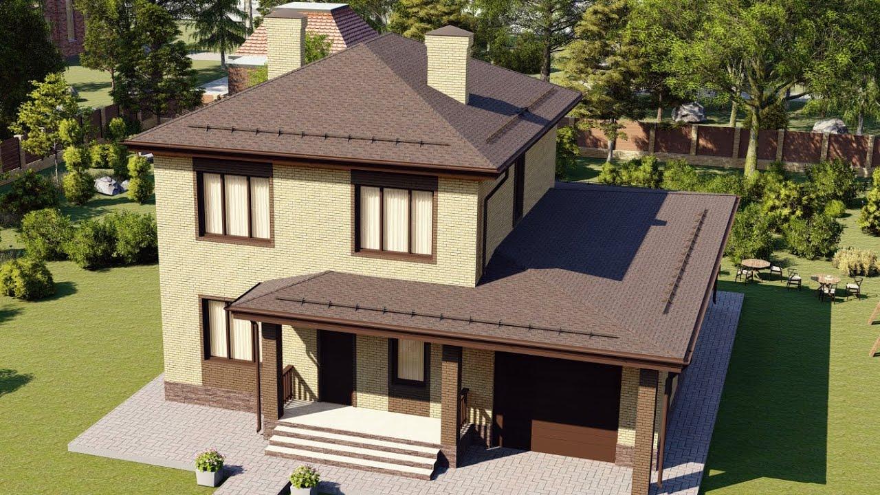 Современные дома из газобетонных блоков с облицовкой фасада кирпичом