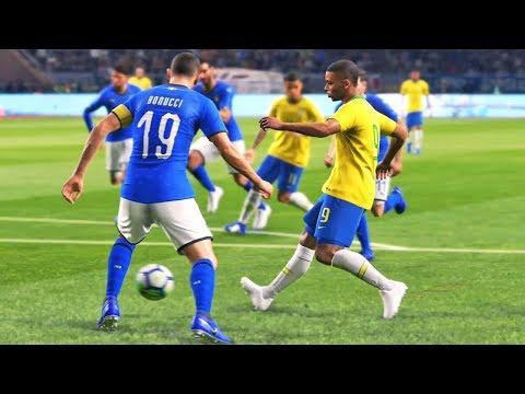 BRASIL X ITÁLIA: Emocionante! Pro Evolution Soccer 2019 (PES 2019)