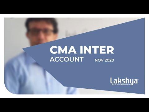 CA Intermediate Account   NOV 2020   online classes   Lakshya ...