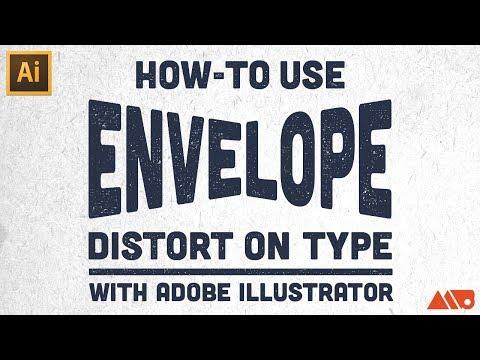 How to Use Envelope Distort on Type in Adobe Illustrator Tutorial