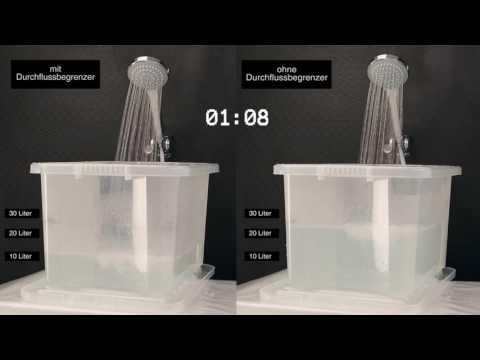 wassersparende Handbrause mit Durchflussbegrenzer - Hudson Reed
