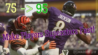 How To Progress Players Quickly In Madden 19