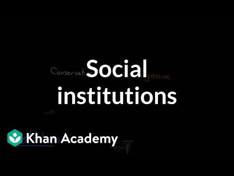 Social institutions (video) | Khan Academy