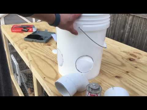 , title : 'How To Make a Chicken Feeder Using a 5 Gallon Bucket - Tutorial