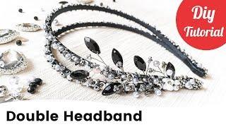 Beaded Bridal Double Hair Headband Tutorial. DIY Gift Idea.