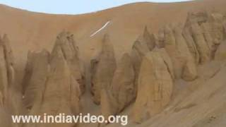 Rock formations in Ladakh