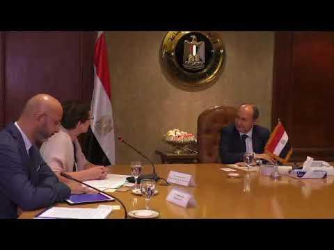 وزير التجارة والصناعة يبحث مع ممثلي المفوضية الأوروبية بالقاهرة