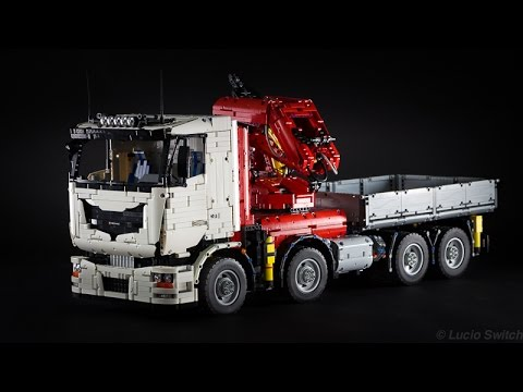 pneumatic crane truck picture special the lego car blog. Black Bedroom Furniture Sets. Home Design Ideas