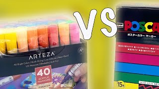 ARTEZA MARKERS VS POSCA PENS // Are Posca Pens Still The Best Paint Marker On The Market?!