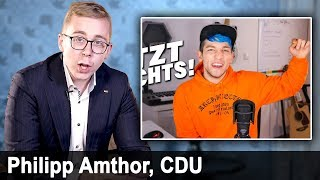 Philipp Amthor (CDU) reagiert endlich auf Rezo-Video | YouTube Kake