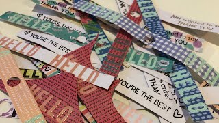 """3""""x4"""" Card Making, Sentiments Stamped On Border Strips Stay Sweet #nopaperleftbehind"""