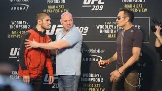 Confrontacion (Face-off) de los participantes de UFC 209