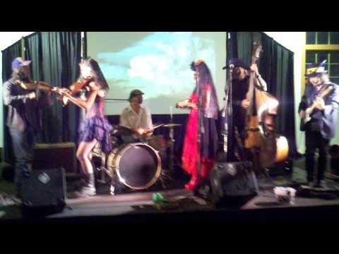 Broomdust Caravan 'Laissez Les Bon Temps Rouler'. Dia de Los Muertos. Sante Fe NM 11/02/2012