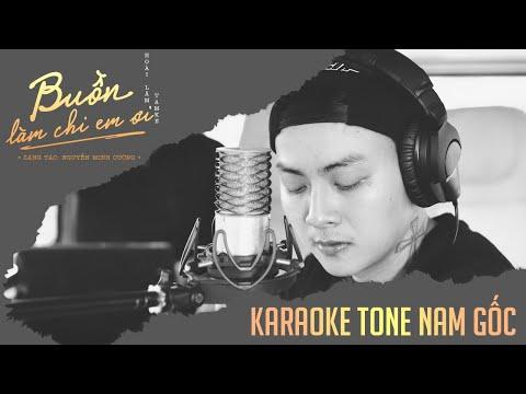 「KARAOKE/BEAT」Buồn Làm Chi Em Ơi - Hoài Lâm | TONE NAM (BEAT GỐC)