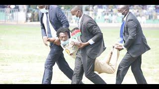 Drama as man attempts to interrupt President Kenyatta during Madaraka Day speech
