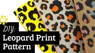 DIY Leopard Print Pattern   Sea Lemon