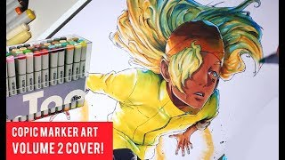 Copic Marker Drawing: Manga Book Cover