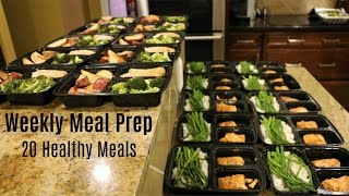 Weekly Meal Prep - 20 Healthy Meals