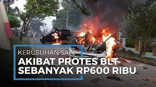 Massa Unjuk Rasa di Mandailing Natal Rusuh hingga Lukai 6 Polisi, Protes Pembagian BLT Rp600 Ribu