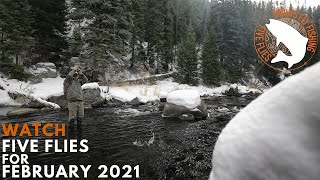 Five Flies for February 2021   Winter Fly Fishing in Colorado