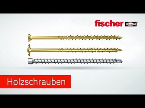Holzbauschrauben fischer Power-Full & fischer Power-Fast Holzverschraubung im Möbelbau und Holzbau