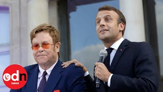 Elton John Receives Legion D'Honneur From French President Emmanuel Macron