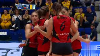 zhu ting on CEV 2018 volleyball