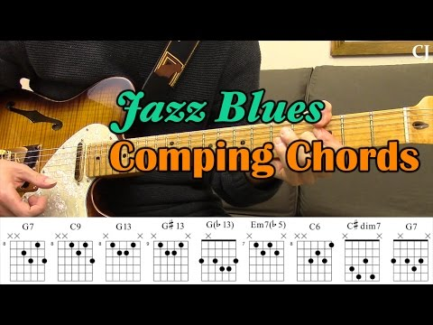Jazz Blues Comping Chords (With Chord Boxes) - Guitar Lesson