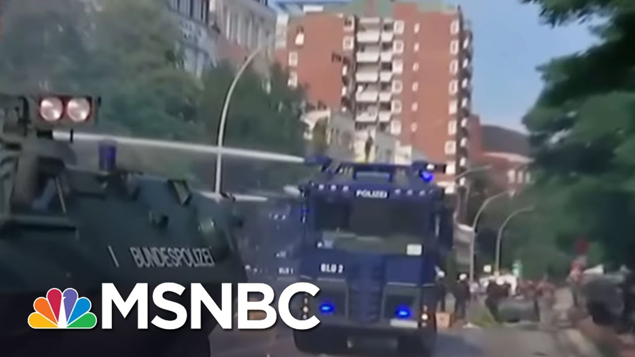 Police Fires 'Stun Grenades,' Water At G-20 Protesters   MSNBC thumbnail