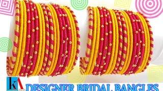 DIY Bridal Chuda: Make your own bridal chuda bangles at home  easy and simple