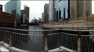 Video 8k Chicago Illinois in Chicago River in 8k and 360 Degrees