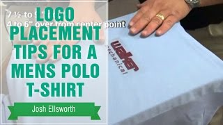 Heat Transfer Placement Tips For A Mens Polo T-Shirt