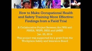 How to make occupational health and safety training more effective, January 28, 2014