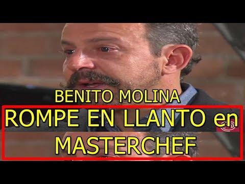 Chef Benito Molina de MASTERCHEF JUNIOR ROMPE en LLANTO tras EXPULSIÓN de NICOLE